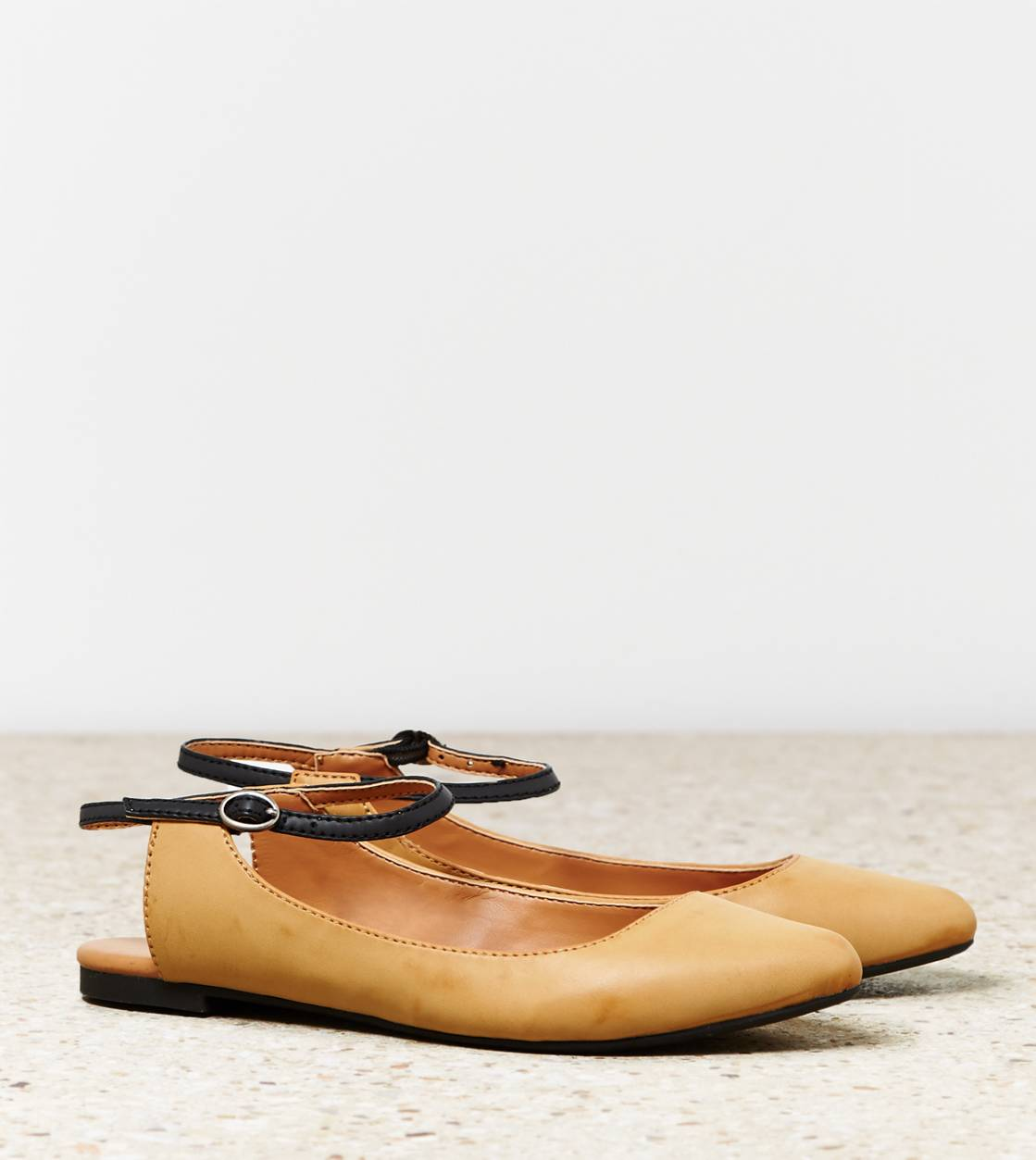 Natural AEO Pointy Slingback Flat