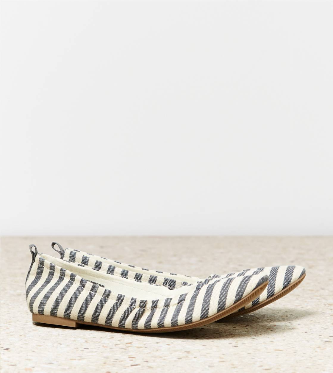Natural AEO Striped Ballet Flat