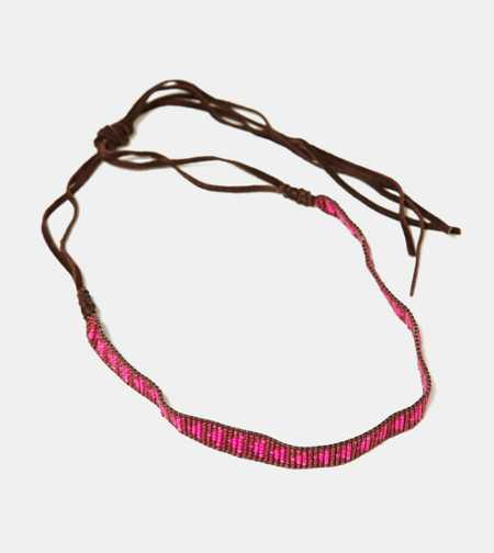 AEO Beaded Suede Headband