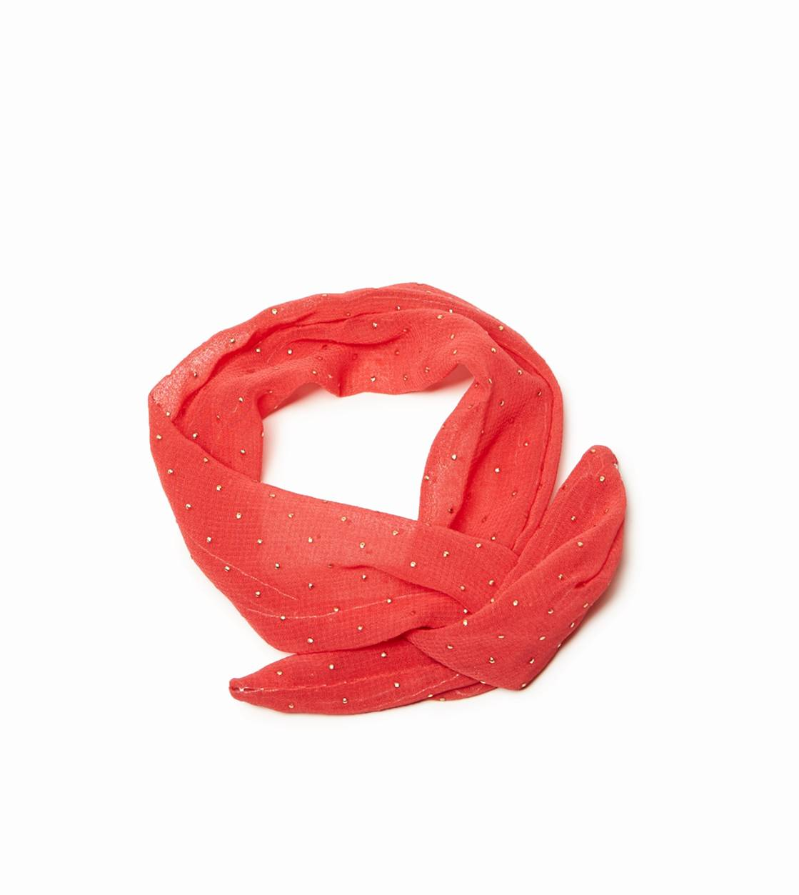 Coral Sun AEO Metallic Dot Bun Wrap