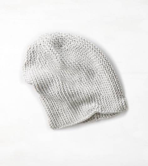 Light Faded Grey AEO Marled Beanie
