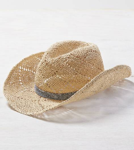 Natural AEO Straw Cowboy Hat