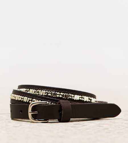 AEO Sparkly Leather Belt