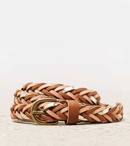 AEO Metallic Braided Belt