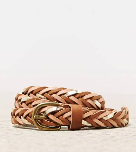 Gold AEO Metallic Braided Belt