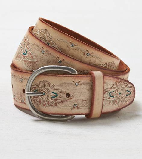 White  AEO Studded Western Belt