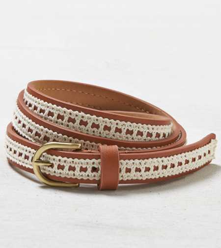 AEO Crocheted Skinny Belt