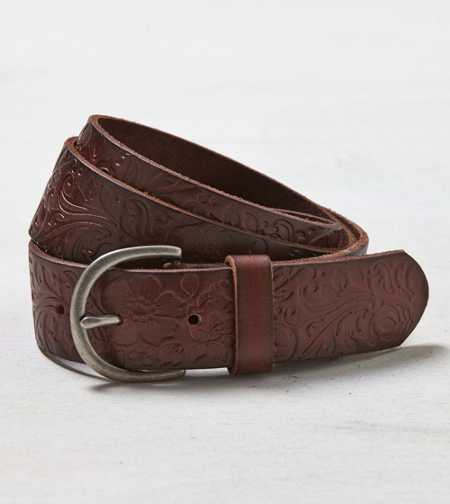 AEO Embossed Leather Belt