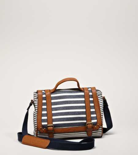 AEO Striped Satchel