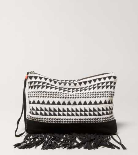AEO Embroidered Wristlet