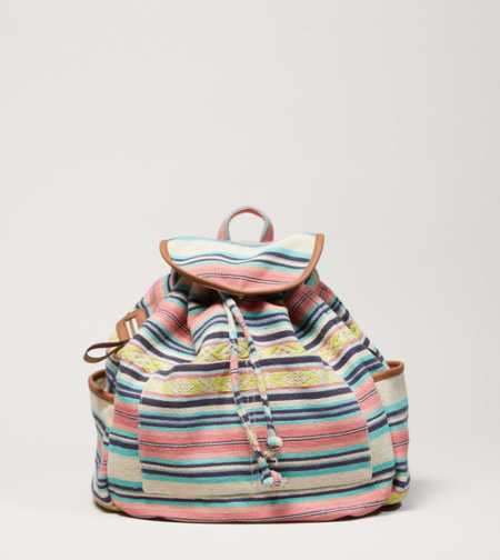 AEO Printed Canvas Backpack - Take 40% Off
