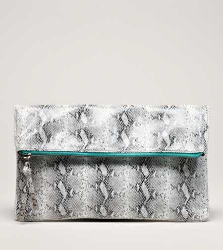 AEO Faux Snakeskin Clutch - Take 40% Off
