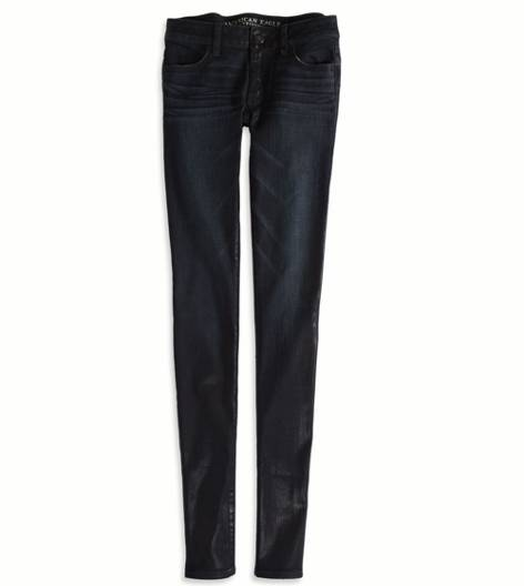 Black Foil Rinse Jegging