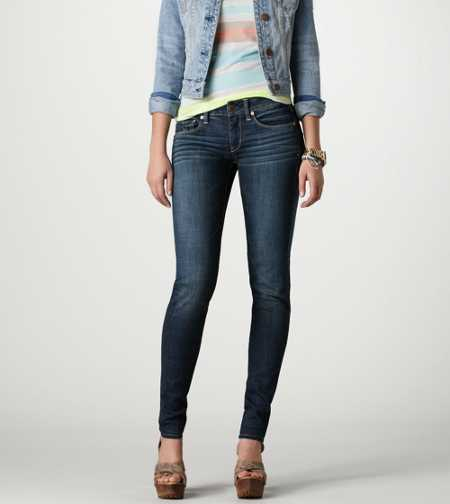Skinny Jean - WORN DARK- SUPER STRETCH