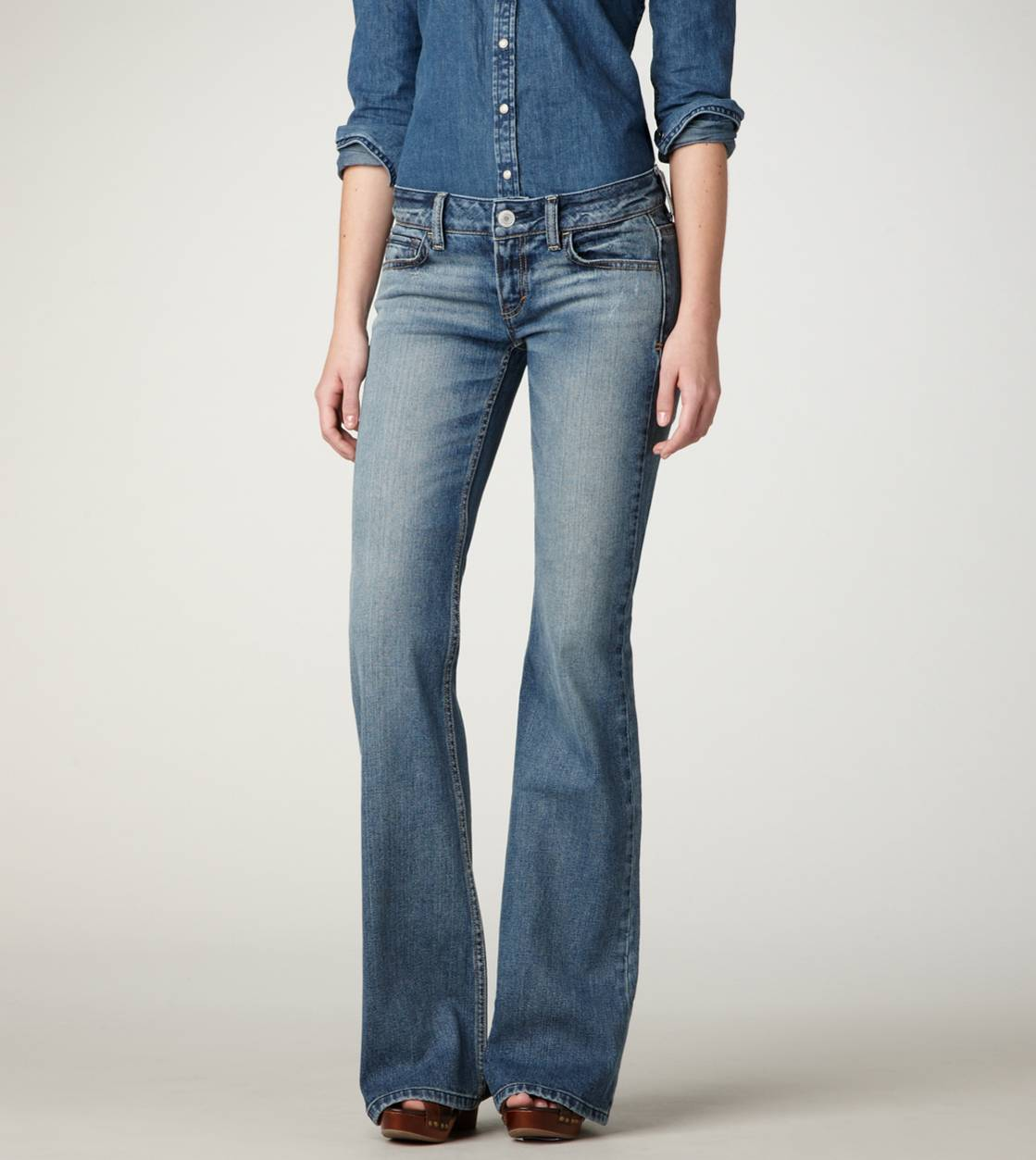 Tinted Medium Hipster Flare Jean