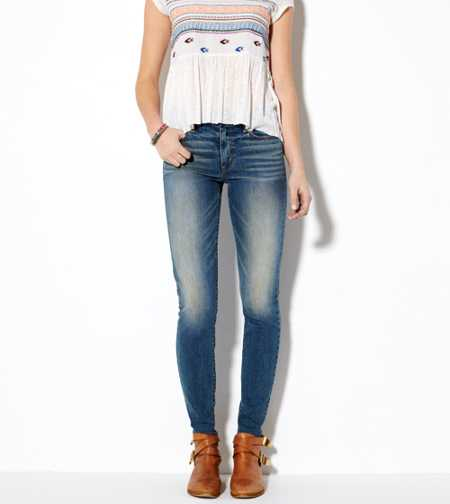 Hi-Rise Jegging - Lived in Medium - Super Stretch