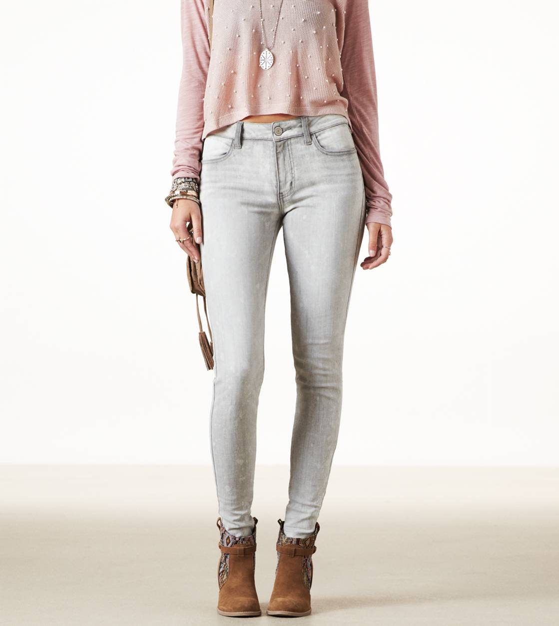 Grey High-Rise Jegging