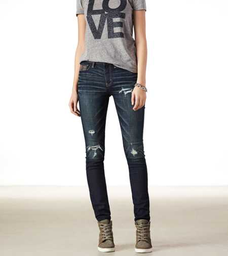 Hi-Rise Jegging - Dark Destroy