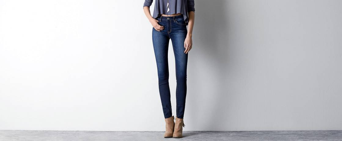 Dark Wash High-Rise Jegging