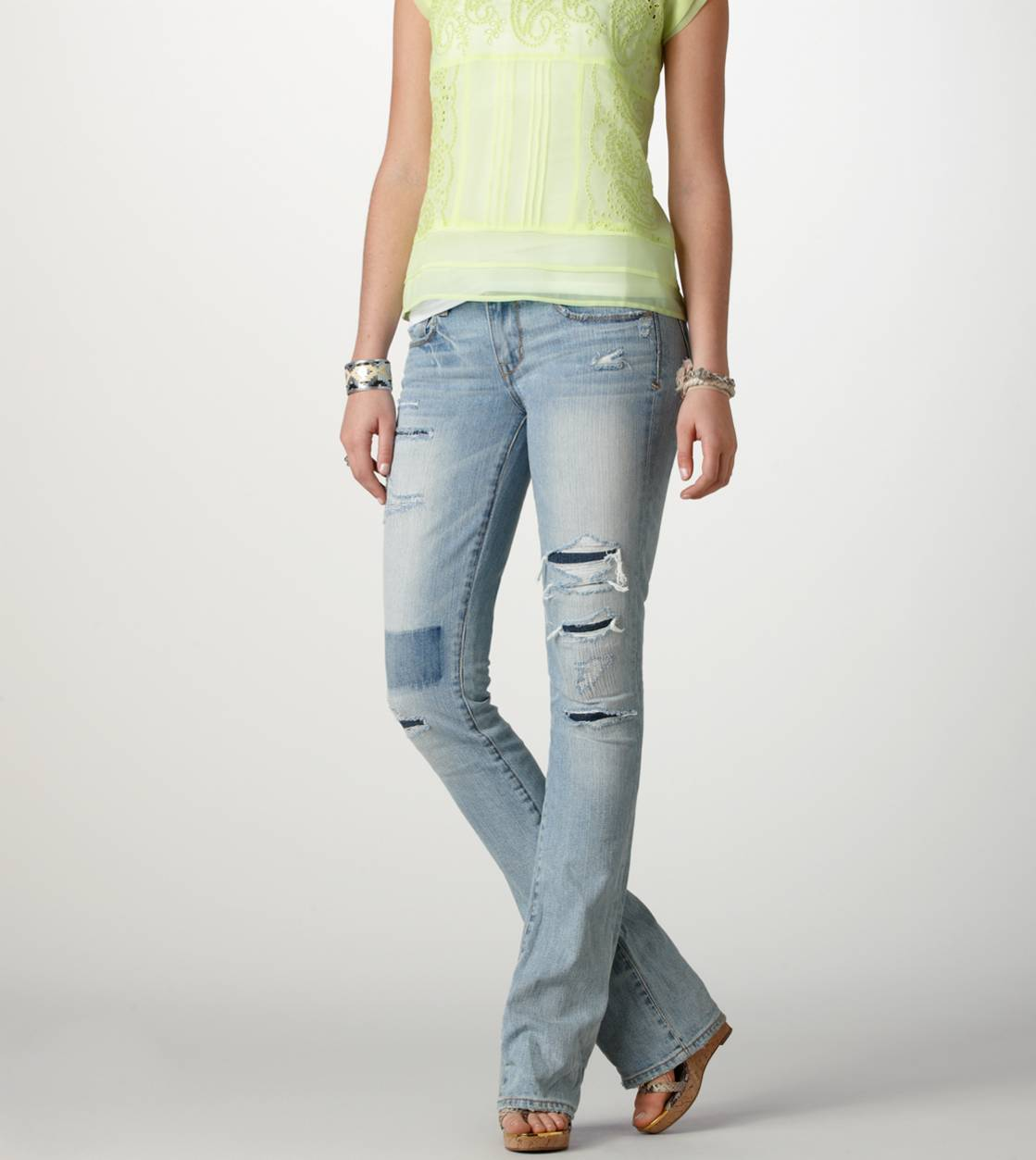 Light Destroy Wash Skinny Kick Jean