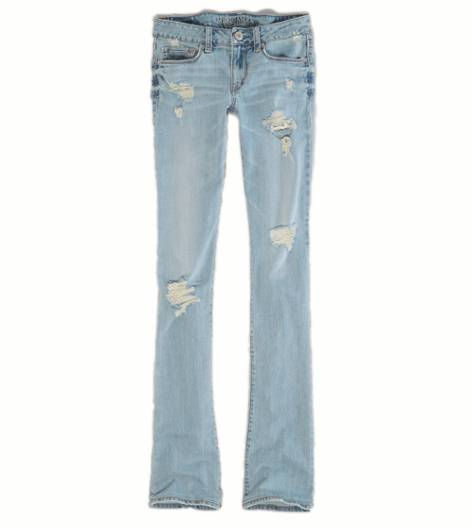 Light Destroy Vintage Skinny Kick Jean