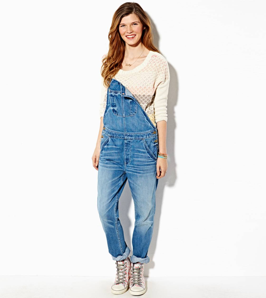 Medium Wash AE Denim Overall
