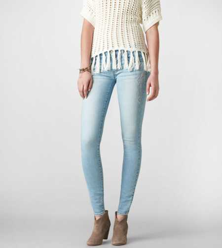 Embroidered Jegging Ankle