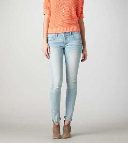 Skinny Crop Jean - LIGHT DESTROY WASH