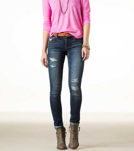 Skinny Crop Jean - DARK DESTROY