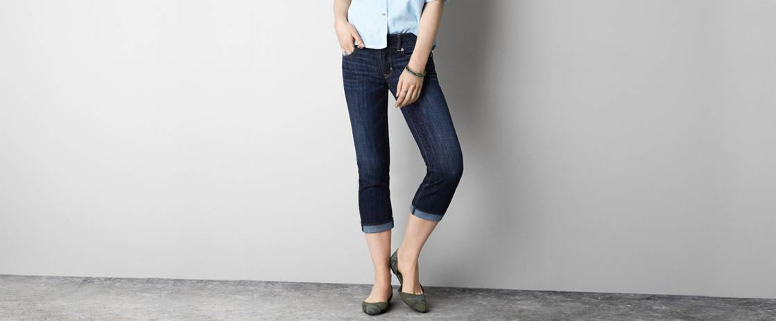 Authentic Dark Indigo Artist Crop Jean