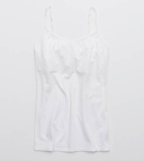 White  Aerie Girly Scoop Neck Tank