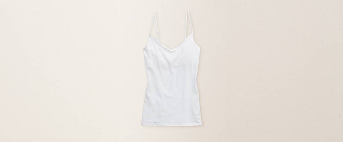 White  Aerie Girly V-Neck Tank