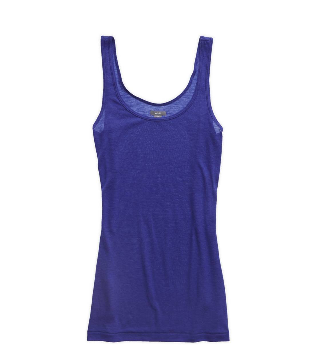 Poet Blue Aerie Basic Scoop Neck Tank