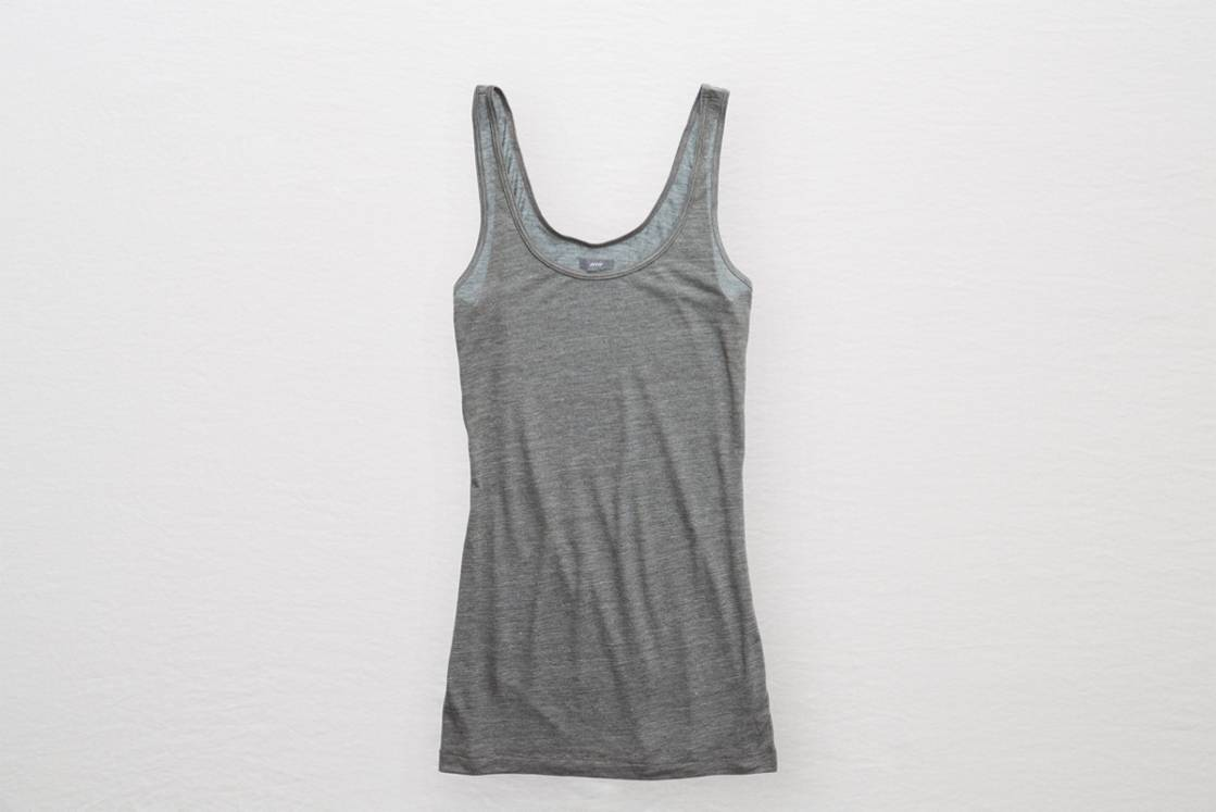 Pewter Aerie Basic Scoop Neck Tank