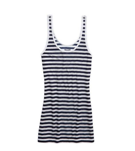 Royal Navy Aerie Striped Scoop Neck Tank