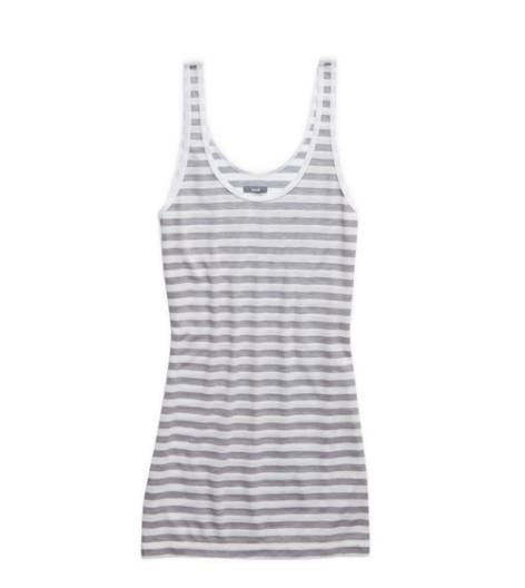 Slab Grey Aerie Striped Scoop Neck Tank