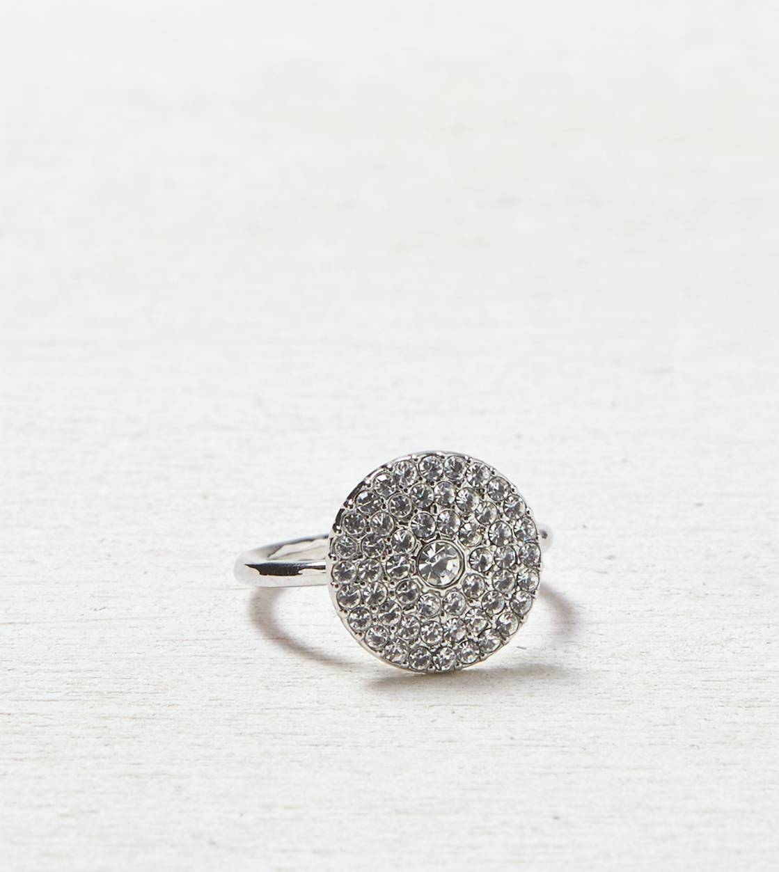 Silver AEO Pave Disc Ring
