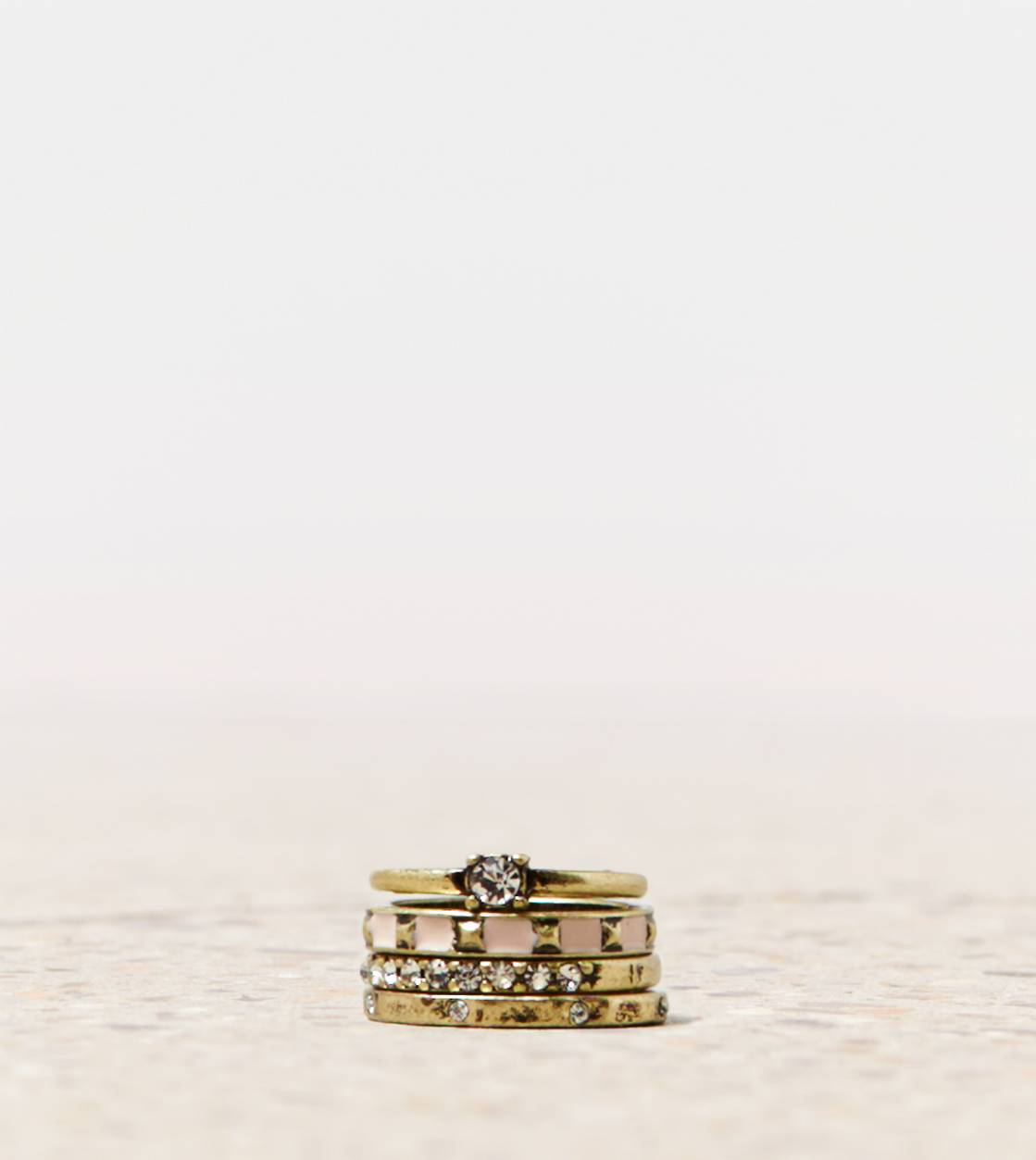 Gold AEO Rose Gold Ring Set