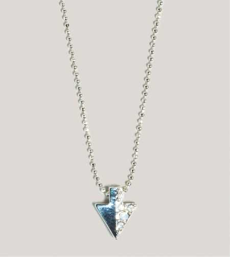 AEO Rhinestone Arrowhead Necklace
