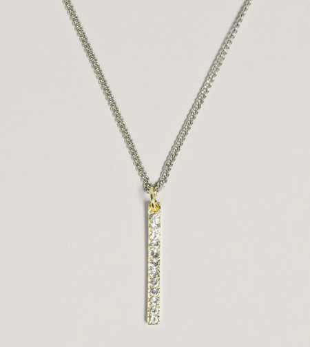 AEO Rhinestone Bar Pendant - Take 40% Off