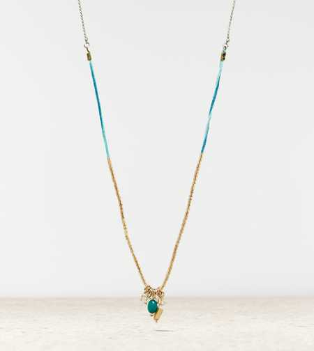 AEO Beaded Charm Necklace - Take 40% Off