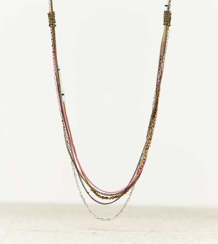 AEO Beaded Chain Necklace - Take 40% Off