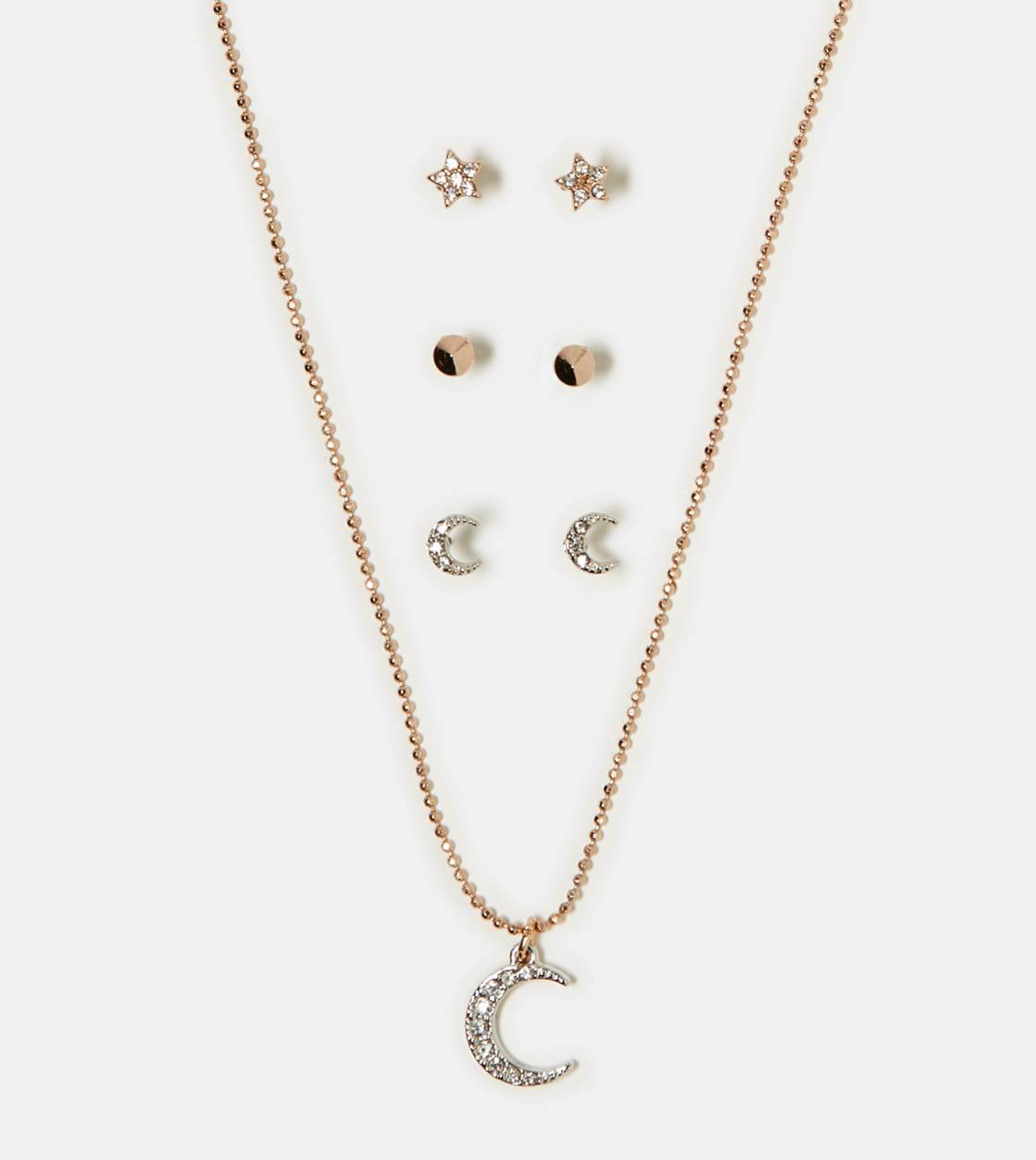 Mixed Metal AEO Gemstone Necklace & Stud Set