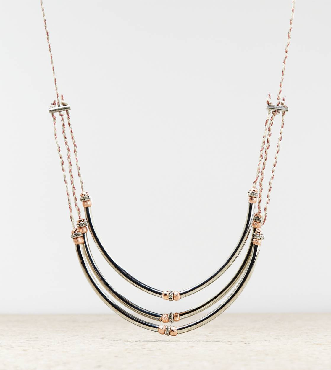 Silver AEO Silver Statement Necklace