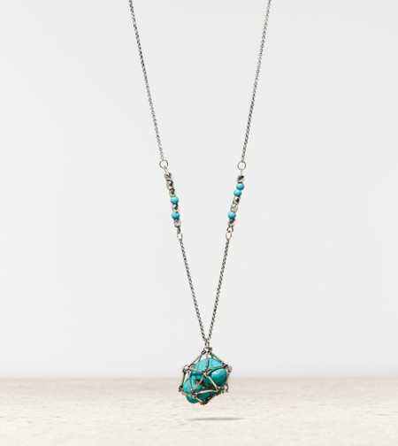 AEO Turquoise Pendant Necklace - Buy One Get One 50% Off