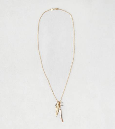 Gold AEO Longhorn Charm Necklace