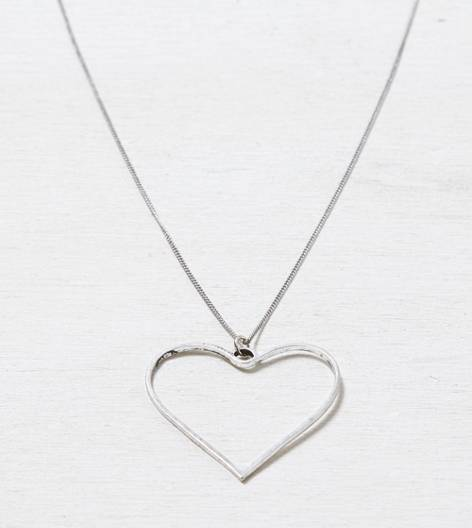 Silver AEO Open Heart Necklace
