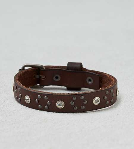 AEO Rhinestone Leather Cuff - Buy One Get One 50% Off