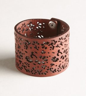 AEO Floral Cutout Leather Cuff - Buy One Get One 50% Off