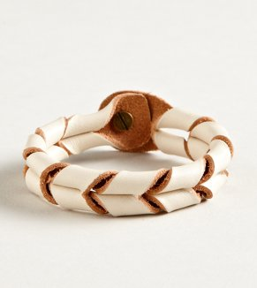 AEO Twisted Chevron Leather Bracelet - Buy One Get One 50% Off
